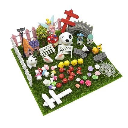 Amazon.com : EMiEN 57 Pieces Miniature Ornament Kits Set for DIY ...