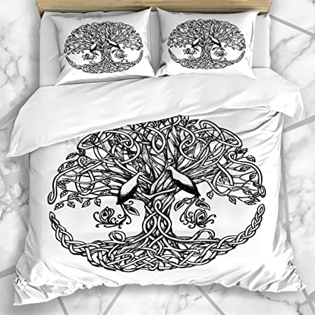 NOLYXICI Ropa de Cama - Funda nórdica Irish Life Celtic Tree Birds ...