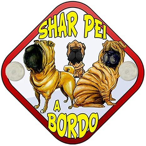 Placa bebé a bordo Shar Pei a bordo perro a bordo: Amazon.es ...