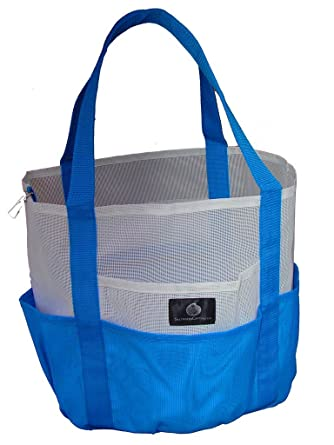Amazon.com | White Blue Whale Bag, Giant Mesh Family Beach Bag ...