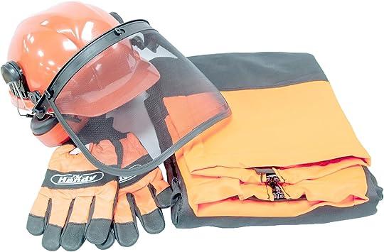El práctico hp-189 Kit de seguridad para motosierra, color negro ...