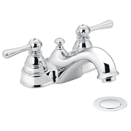 Ordinaire Moen 6101 Kingsley Two Handle Low Arc Bathroom Faucet With Drain Assembly,  Chrome