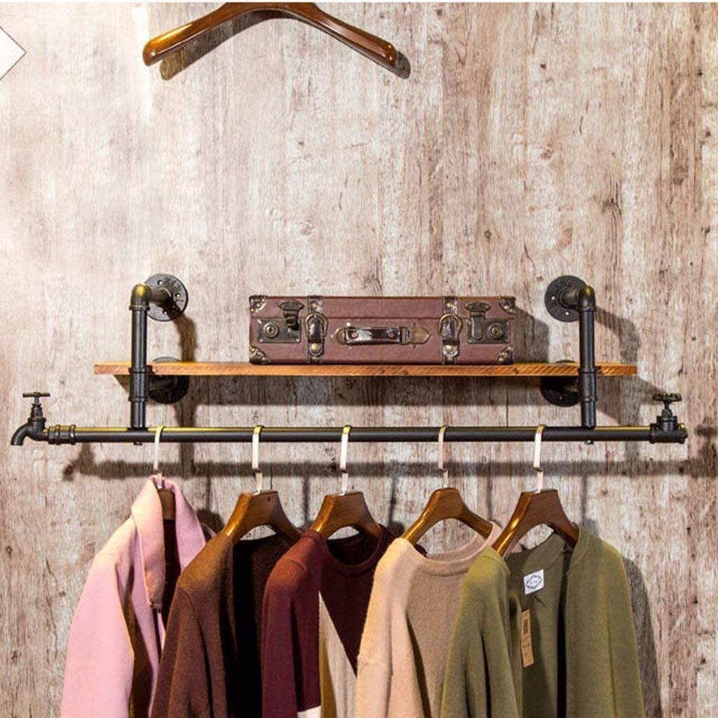 A GJD Coatrack Wall-Mounted Coat Rack Decorative Display Wall-Mounted Storage Rack Hatstand (Size   B)