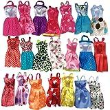 LQZ(TM) Set 10 Robes Jupe Vêtement Soirée Bal Poupées Barbies Couleurs Aléatoire