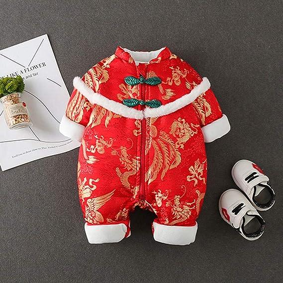 Saco De Dormir De Bebe Mono De Bebe Pijamas De Bebe-Baby Onesies Ropa De Año Chino Ropa De Año Nuevo para Bebés 0-2 Años: Amazon.es: Hogar
