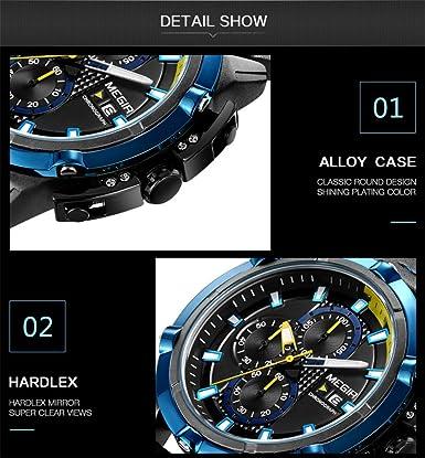 Amazon.com: Mens Wrist Watches Men Quartz Sport Watch Relogio Masculino Chronograph Military Army Watches Clock Men Top Brand Luxury Creative Watch Men ...