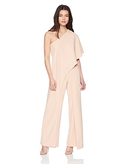 f9c84b1ffee Adrianna Papell Women s Petite One Shoulder Draped Jumpsuit Special  Occasion Dress  Amazon.co.uk  Clothing