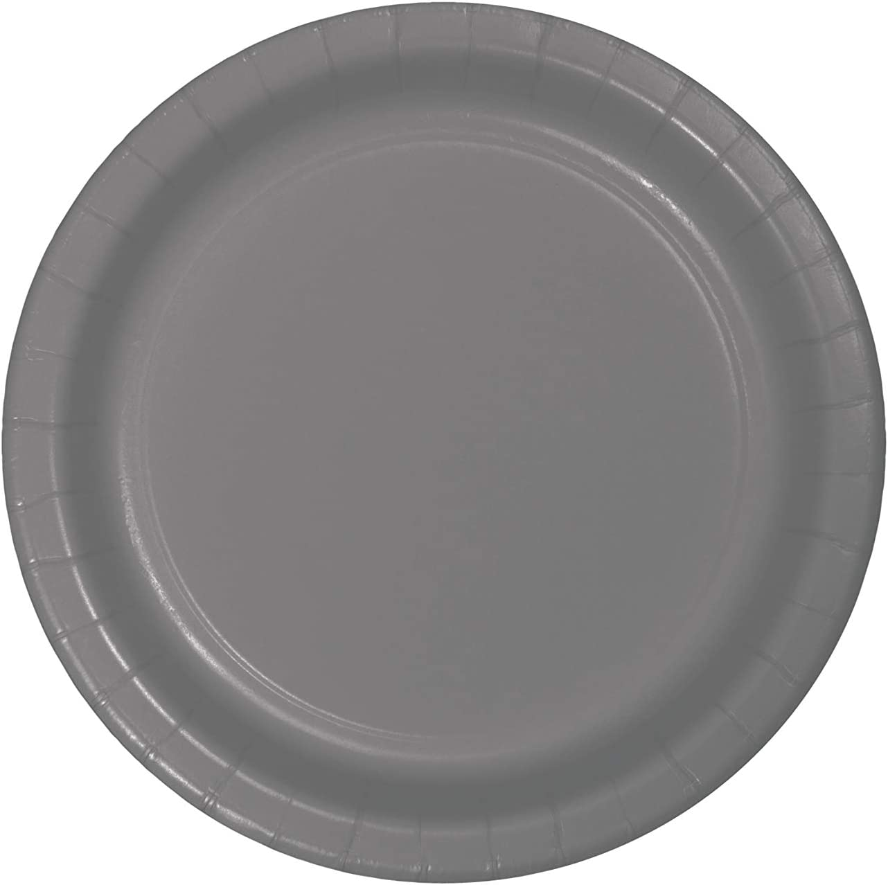 Creative Converting 339639 DINNER PLATE, 9 in, 24 ct, Gray