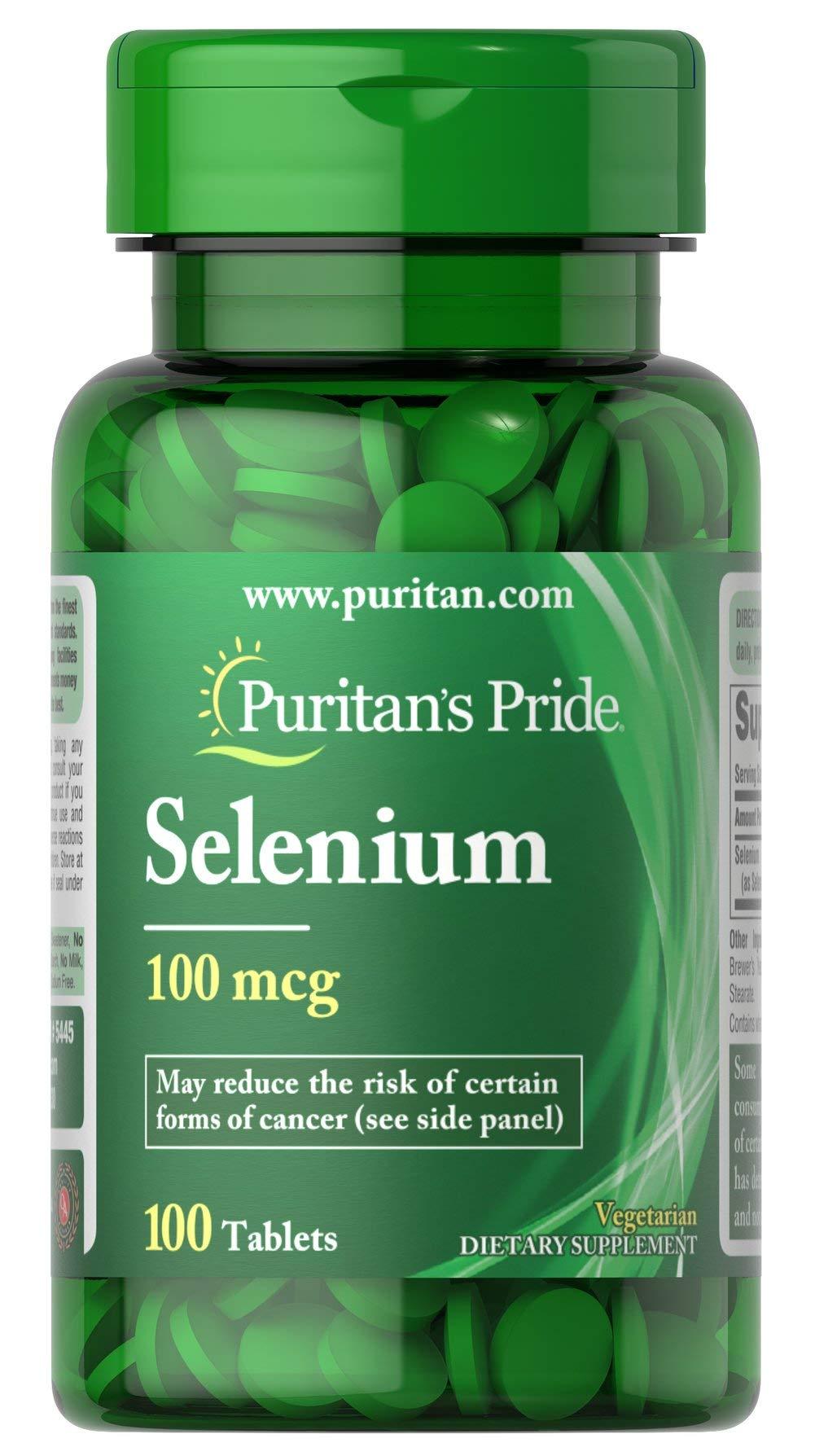 Puritan's Pride Selenium 100 mcg-100 Tablets