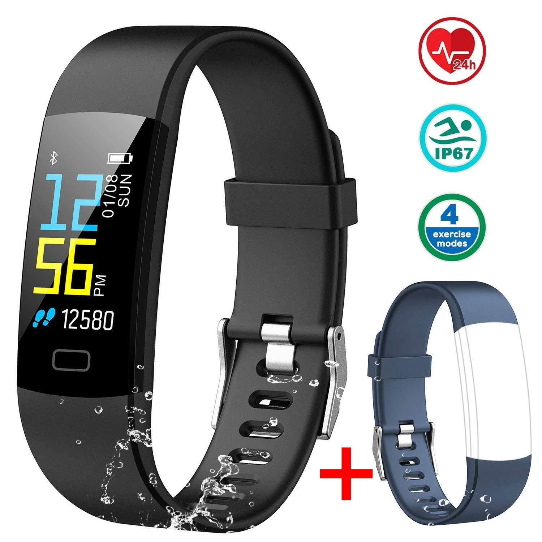 MAYIBAN Pulsera de Actividad Inteligente, Pulsera Actividad con Monitor Ritmo Cardíaco, Oxígeno en Sangre, Calorías y Sueño Podómetro GPS Cronómetro IP67 ...
