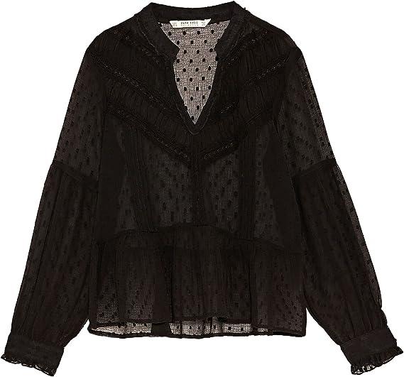Zara - Camisas - para mujer negro X-Small : Amazon.es: Ropa y accesorios
