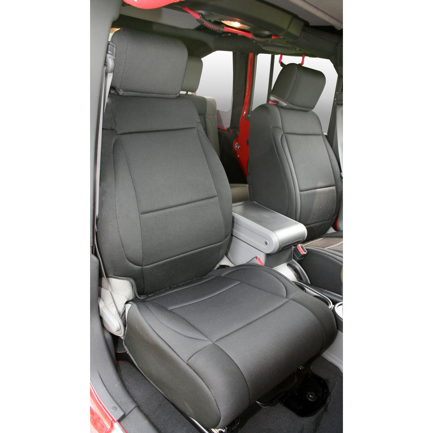 Rugged Ridge 13214.01 Black Custom Neoprene Front Seat Cover - Pair by Rugged Ridge