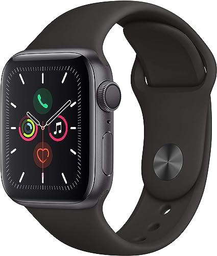 Image ofApple Watch Series 5 (GPS, 40 mm) Aluminio en Gris Espacial - Correa Deportiva Negro