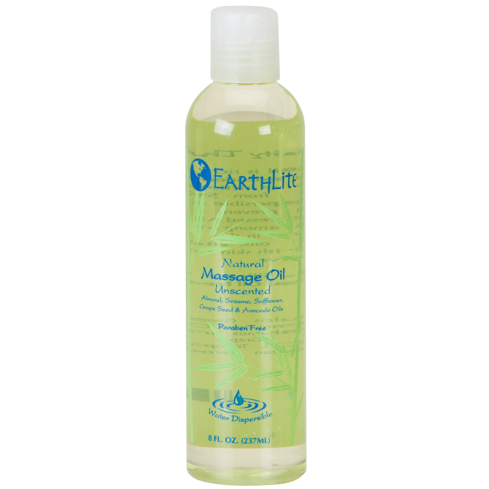 EARTHLITE Massage Oil - Natural, Unscented, Vitamin A, E & C to Repair & Moisture for All Massage Styles (8oz)