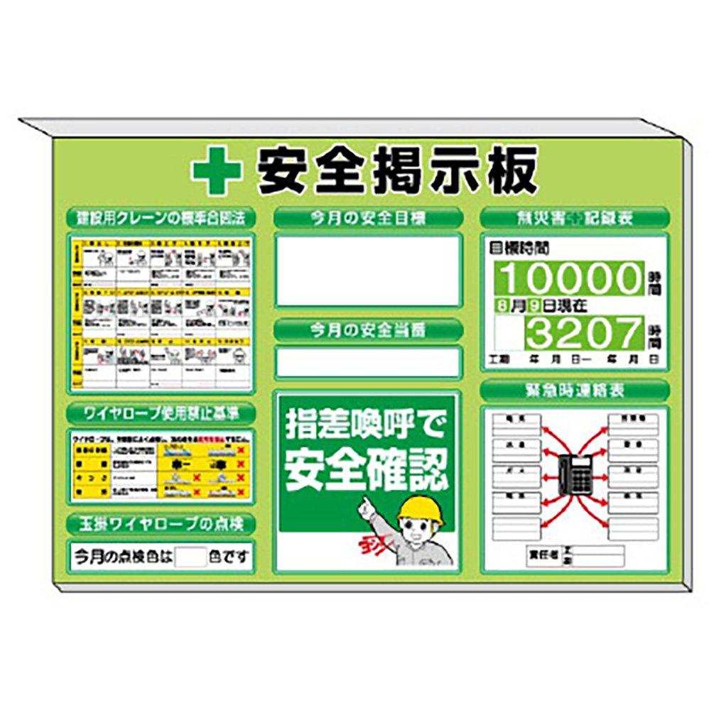 【313-89G】ミニ掲示板 クレーン合図法他入 緑地 B072PV83J7