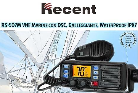 Recent rs-507 m transmisor VHF náutico flotador