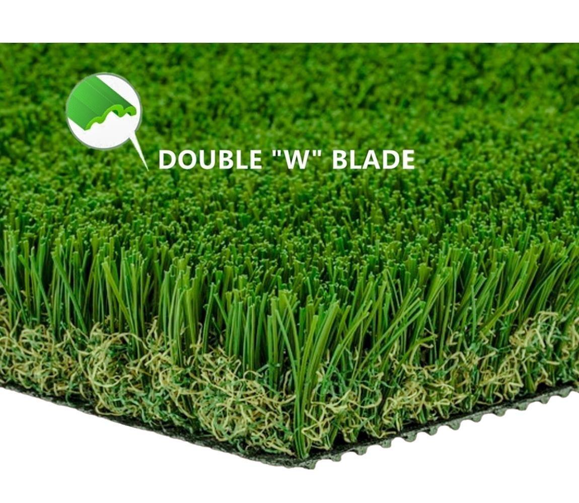 MTBRO 3'x5' Grass Rug, Realistic Artificial Turf Indoor/Outdoor Dog Mat, Blade Height 1.5'', 3ft X 5ft
