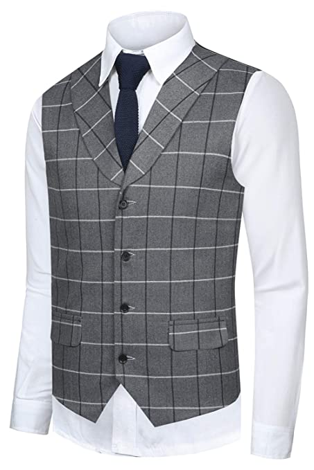 1920s Style Mens Vests Hanayome Mens Gentleman Top Design Casual Waistcoat Business Suit Vest VS17 $28.90 AT vintagedancer.com
