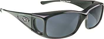 5a16ef3d0501a Fitovers Eyewear - Razor Collection - Gunmetal polarized Gray Lens -  Designed to Be Worn