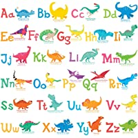 DECOWALL DW-1803 A-Z Dinosaur Alphabet Kids Wall Stickers Wall Decals Peel and Stick Removable Wall Stickers for Kids…