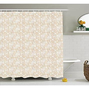 Creme Vorhang für die Dusche von yeuss, Bridal Inspirationen in weiß ...