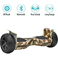 NHT Hoverboard - All Terrain Rugged 8.5 Inch Wheels Off-Road Electric Smart Self Balancing Scooter with Built-in Bluetooth Speaker LED Lights - UL2272 Certified