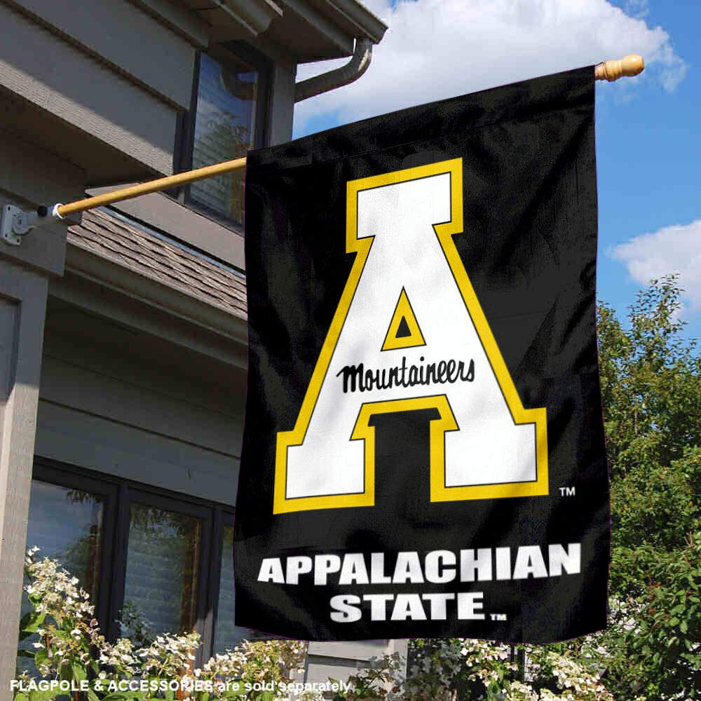 College Flags and Banners Co App State Mountaineers House Flag