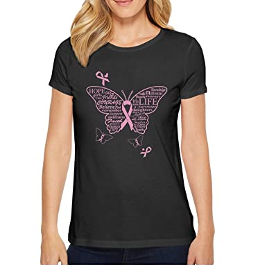 Amazon.com: lingxxshow Pink Ribbon Butterfly Breast Cancer Cool ...