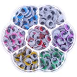 Decora 140pcs 12mm Mixed Colors Googly Wiggly Eyes with Eyelash with Self-adhesive DIY Scrapbooking Crafts Toy Accessories
