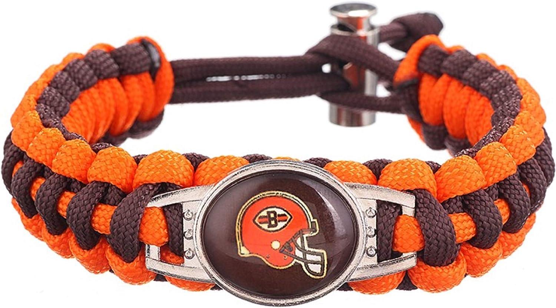 Swamp Fox Cleveland Browns Adjustable Paracord Bracelet 7