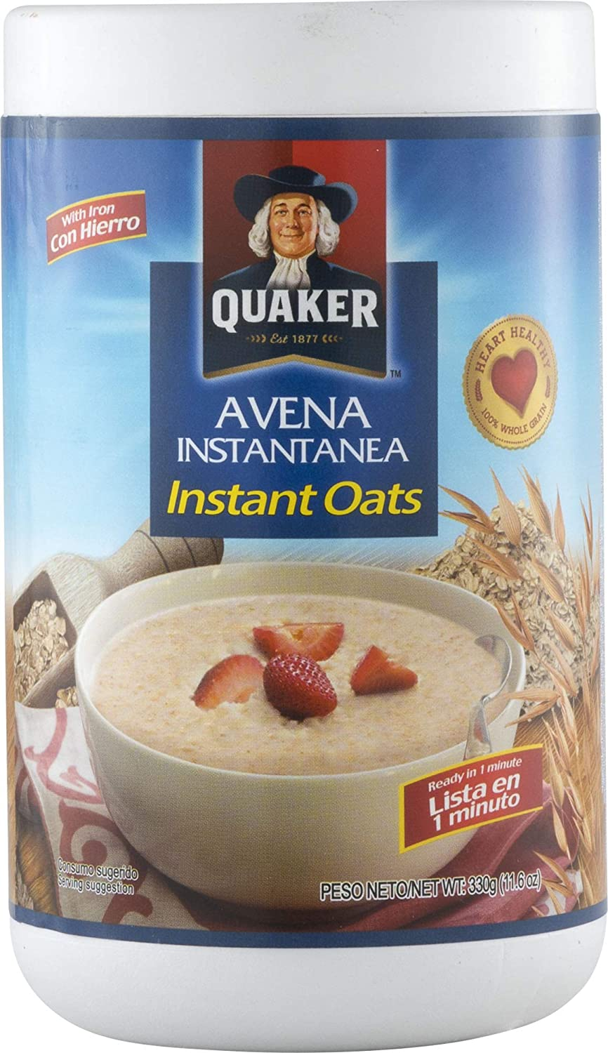 Amazon.com : Quaker Avena en Hojuelas Quick Cooking Oats, 11.6 Oz : Grocery & Gourmet Food