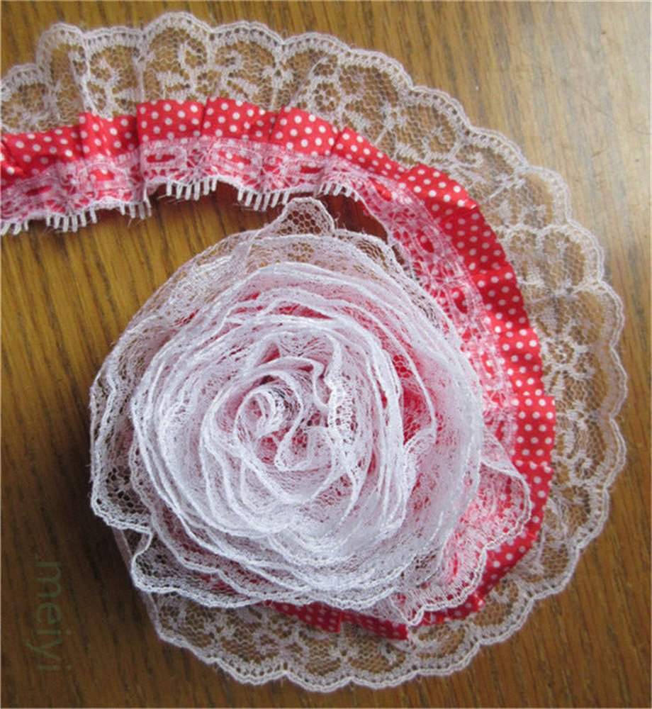 Latest Collection Of 3 Meters 5cm Pleated Organza Gathered Mesh Lace Edge Trim Ribbon Embroidered Applique Sewing Craft Crochet Wedding Dress Clothes Home & Garden