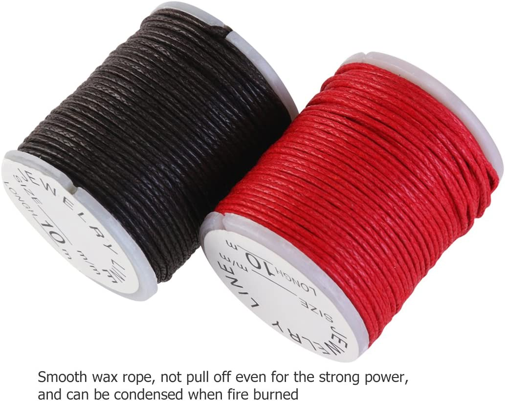 10m Red 10 Meter//Piece Wax Nylon String Rope for DIY Bracelet Jewelry Making