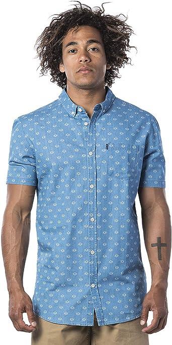 Rip Curl RHOMBEES Shirt Hombre Camisa, Camisa de Manga Corta, Camisa de Ocio: Amazon.es: Ropa y accesorios