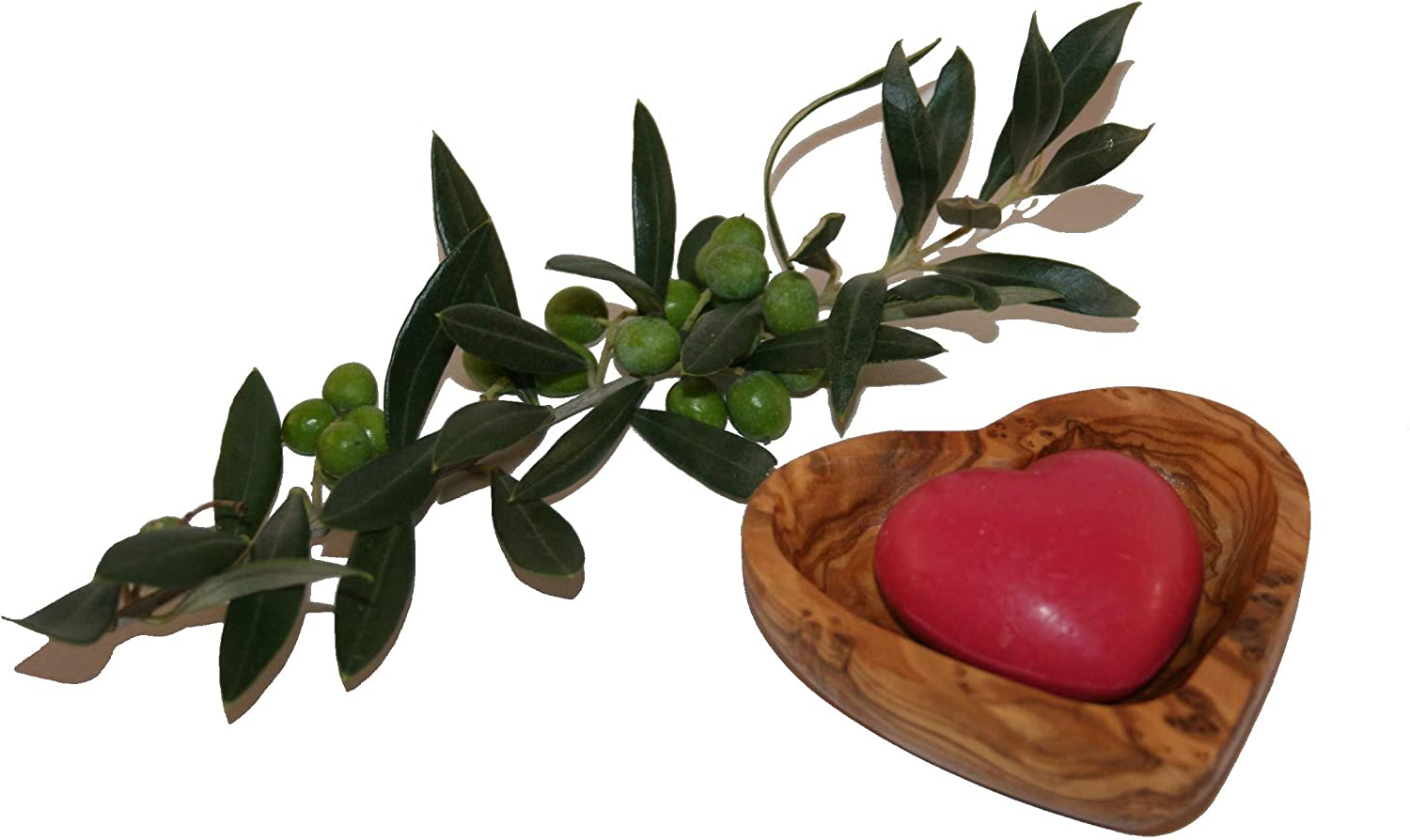 Heart Shaped Soap Dish Small Olive Wood And A Soap Heart Shaped Red Amazon Co Uk Kitchen Home