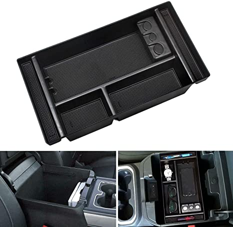 Car Center Console Organizer Tray for 2019 Chevy Silverado 1500// GMC Sierra 1500 2019 GM Vehicles Accessories