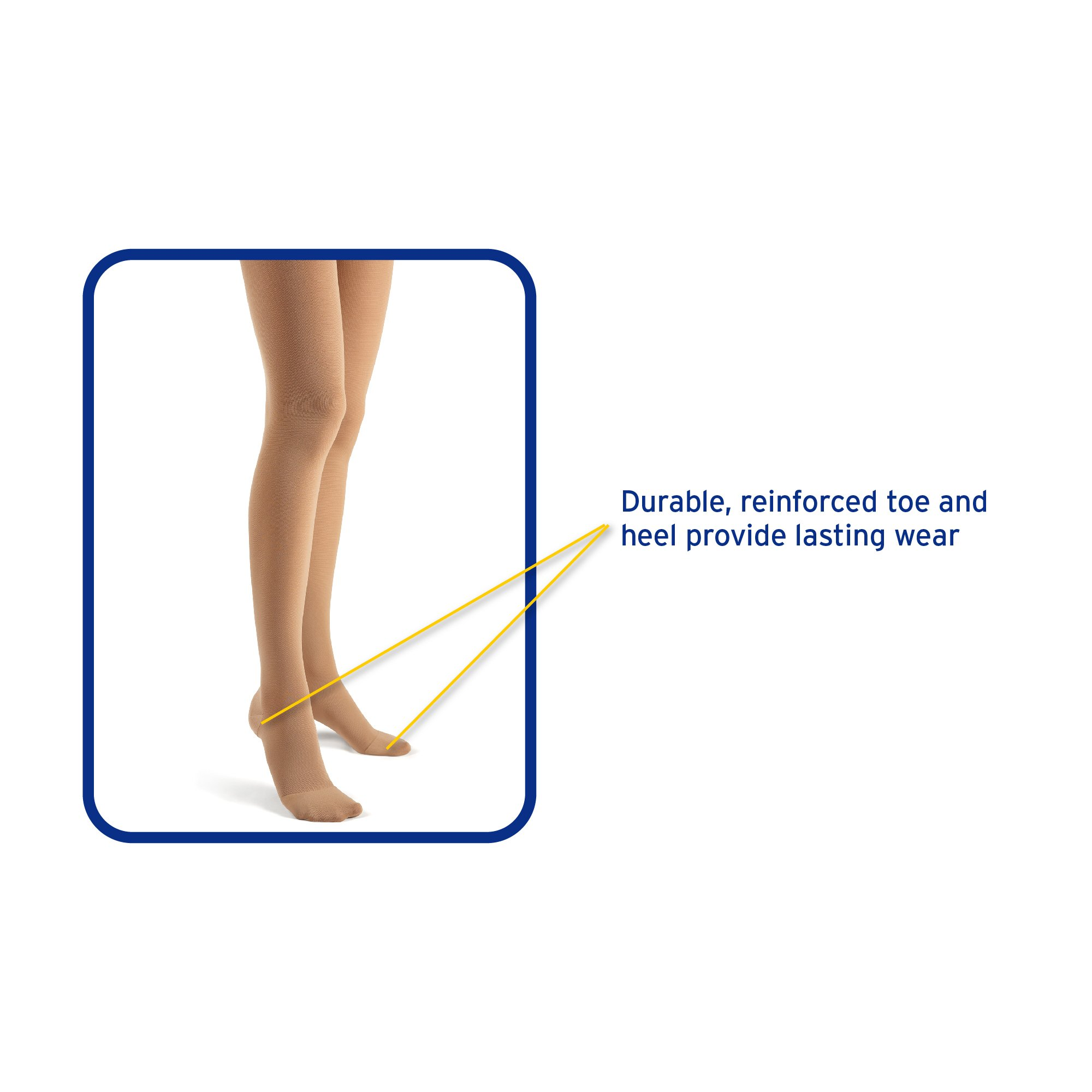 Futuro Restoring Pantyhose for Women, Helps Improve Circulation for Tired Legs, Eases Symptoms of Moderate-to-Severe Varicose Veins, Brief Cut, Large, Nude, Firm Compression by Futuro (Image #5)