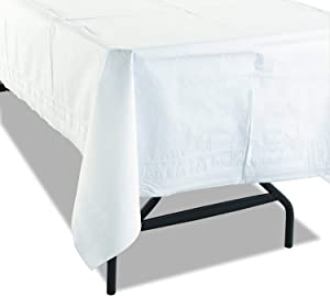 """White Paper Table Cloths for Parties 