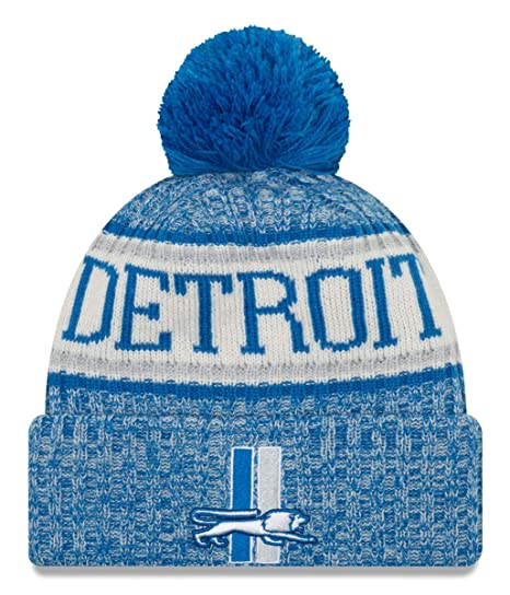 5664a7e0b Image Unavailable. Image not available for. Color  New Era Detroit Lions  2018 NFL Sideline On Field Historic Sport Knit Hat