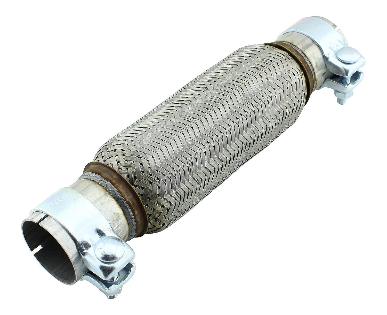 55 x 230 mm tubo flessibile in acciaio inox universale con montaggio fascette myowntrade