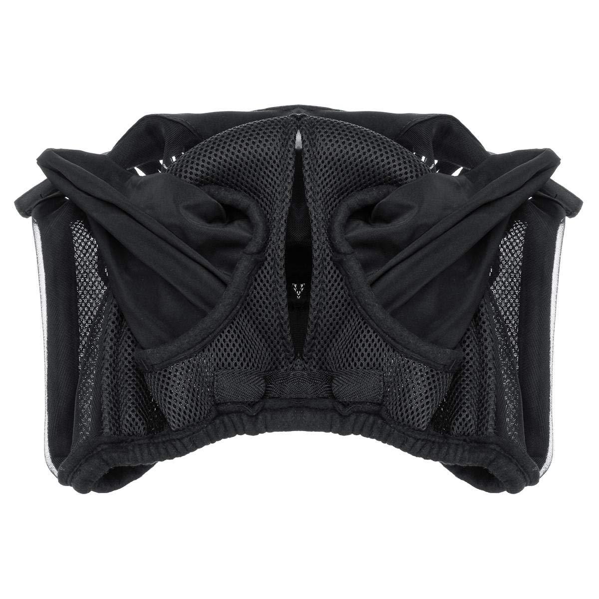 Horse Full Face Mask Fleece Trim Fly Web - 1PCs