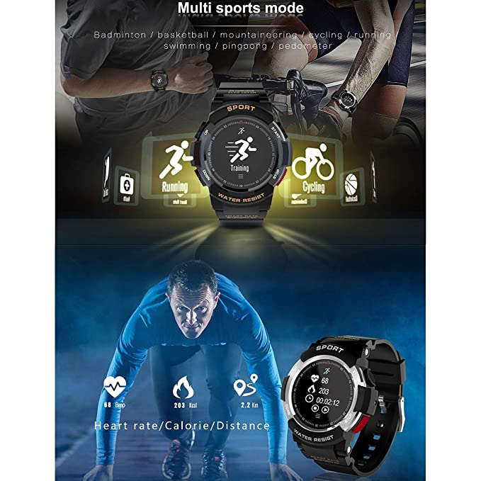 Leyeet F6 IP68 - Reloj multideportivo 1 f6 IP68 Impermeable ...