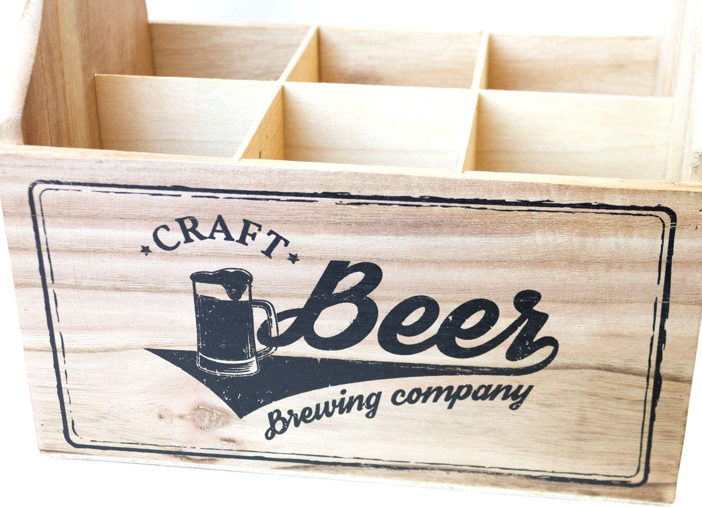 Unbekannt Brewing Company Porte-Bouteille pour 6 Bouteilles avec d/écapsuleur 23 x 15,5 x 27 cm