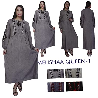 49d2d168fe MALAIKA Women Indian Pakistani Designer Embroidery Kurta Kurti Tunic Top  Dress Melishaa: Amazon.co.uk: Clothing
