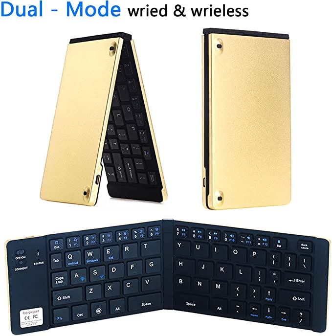 Computer USB Keyboard with Foldable Stands Dricar Black Wired Keyboard Support Windows 10//8//7