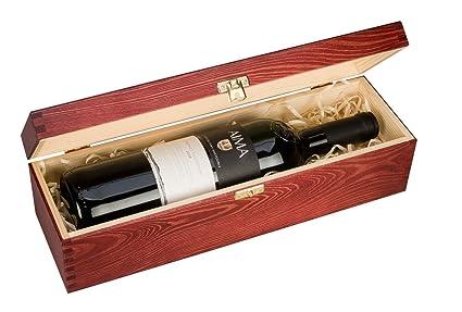 Botella, caja de regalo de lujo de madera del vino, champán o Whisky