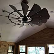 Quorum 97215 86 Indoor Windmill Ceiling Fan In Oiled