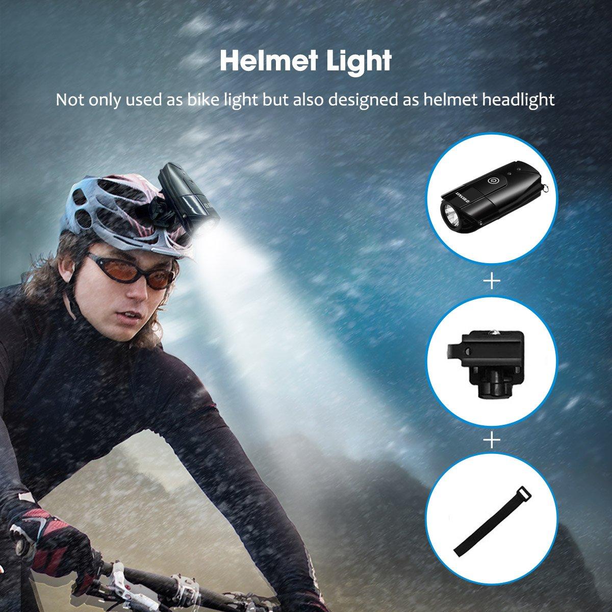 Super Bright Waterproof Light for Bike Bicycle Light 2000mAh//1000 Lumen LED Bike Headlight USB Rechargeable Flashlight for Mountain /& Kids /& Street Bicycle