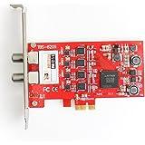 TBS®6205 Carte PCIeTV Tuner DVB-T2 / T / C Quad TV TV Tuner - Carte Professionnelle 4 tuners TNT et câble - Nouvelle version de la TBS6285 - Compatible avec Windows et Linux pour Recevoir les Chaînes télé TNT et du Câble - DVB-T2/T/C Quad TV Tuner PCIe Card