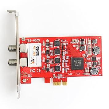 Amazon.com: TBS 6205 DVB-T2/T/C Freeview Quad PCIe Digital ...